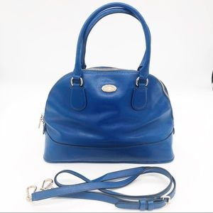 Coach Peyton Cora Blue Domed Crossbody Tote